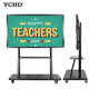 Anti- glare glass all in one touch screen PC monitor smart whiteboard floor stand