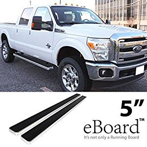 """eBoard Running Boards Combo 5"""" For 99-16 Ford F250/F350/F450 SuperDuty Crew Cab Nerf Bars Step Bars Side Steps"""