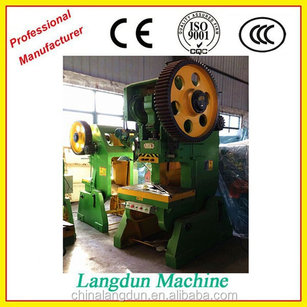 10ton mechanical power press machine rates, steel hole punching machine, hole puncher