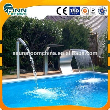 Home use indoor outdoor garden pool fountain swimming pool waterfall ...