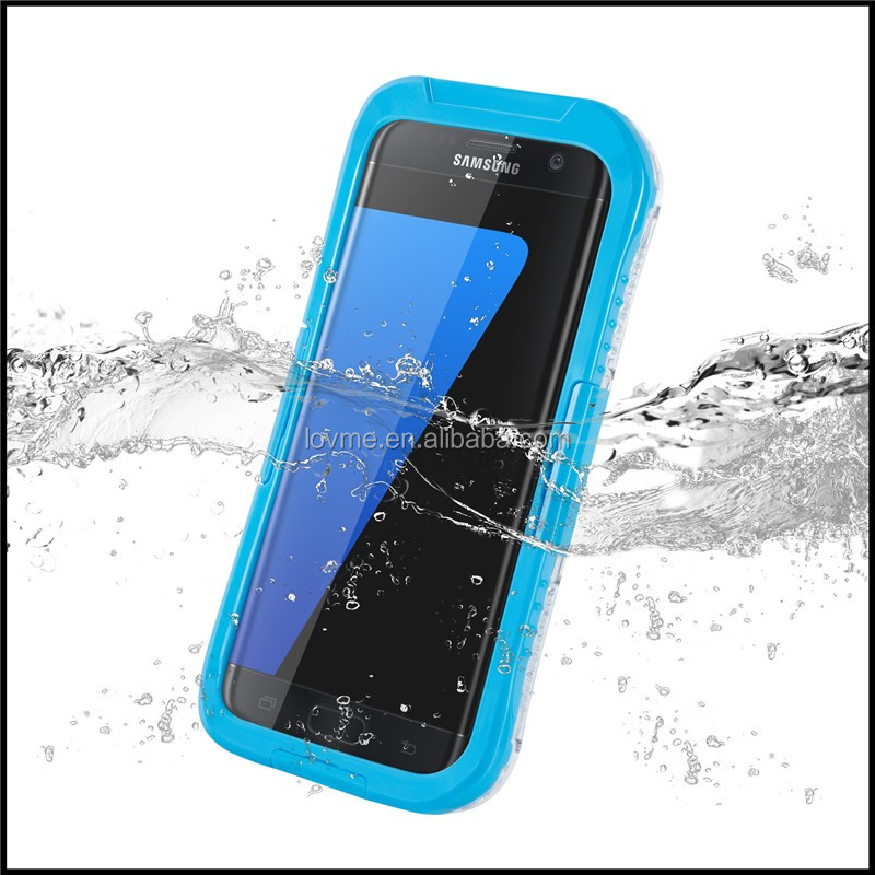 8 meters waterproof mouldproof water resistent shockproof touch screen case for Samsung Galaxy S7 Edge
