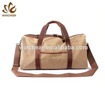 Large capacity good quality vintage weekend travel canvas duffel bag