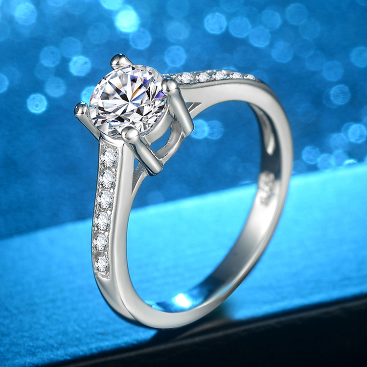 Customizable mirror-polished oem quality brass alloy cz ring