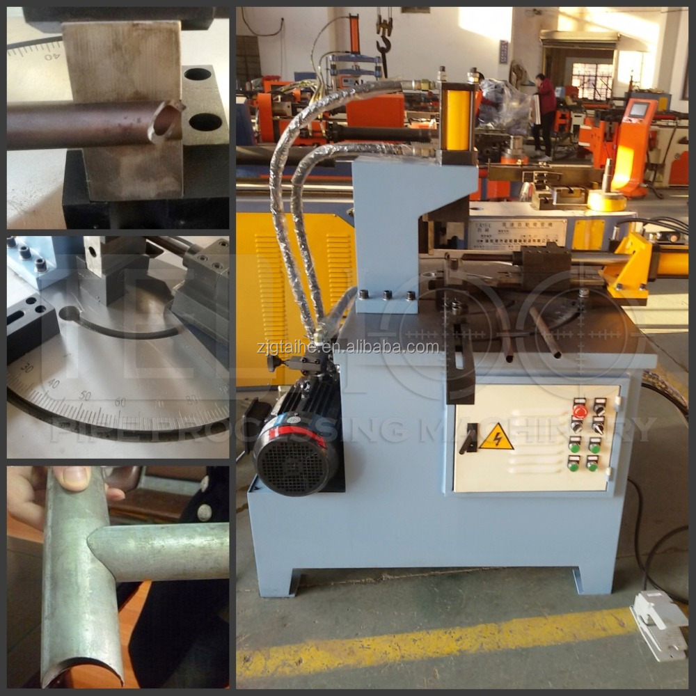 CH-50 automatic hydraulic pipe and tube notcher machine