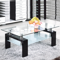 Cheap Living room furniture modern glass center coffee table sets