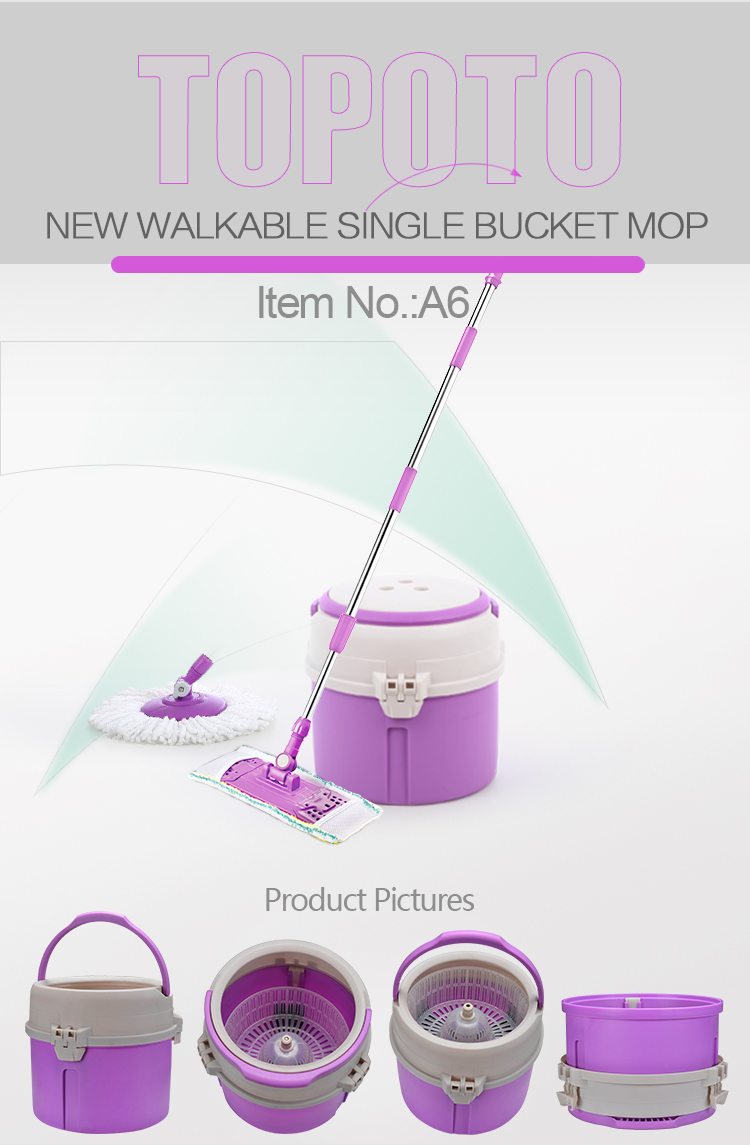 Household Cleaning 360 Easy Use Smart Magic Spin Go Mop with Single Bucket