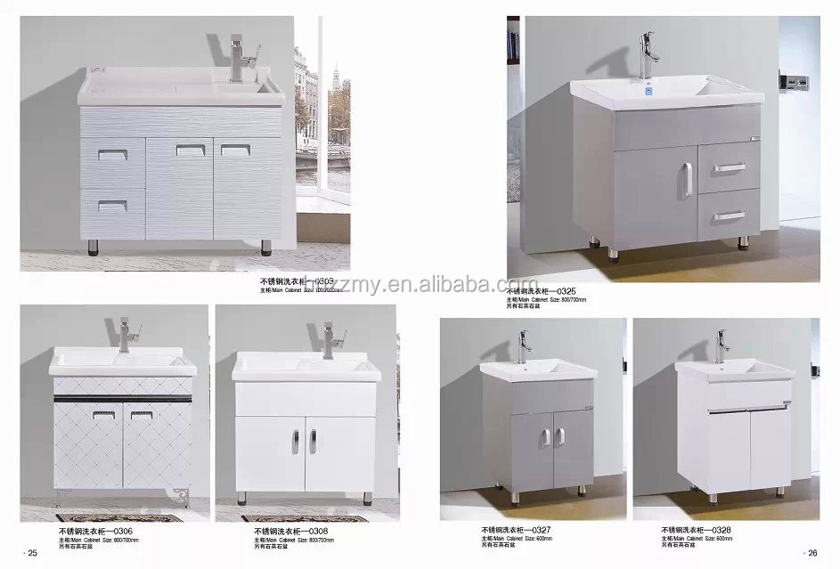 Sanitair badkamer vanity rvs wasgoed kast met wasmachine ontwerp buy product on - Aangepaste kast ...
