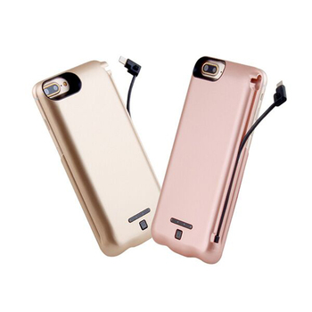 Newest power bank case with cable for Iphone/Android mobile phone power bank best portable 8000mah power bank