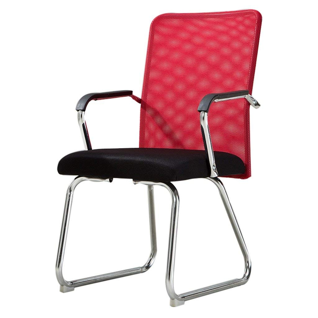 Office Chair Mena Uk home computer chair staff simple meeting chair student dormitory four-legged chair (mesh/flannel) (Color : C)