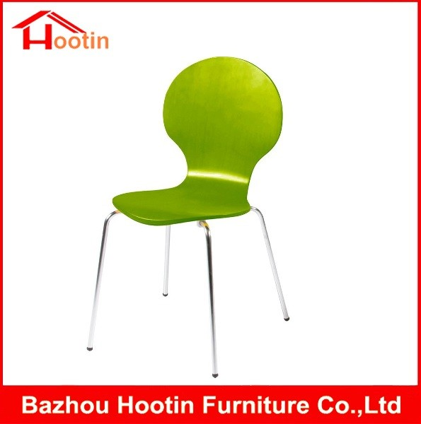 Charmant Contemporary Green Seat 4 Legs Metal Tube Bentwood Chairs For Sale