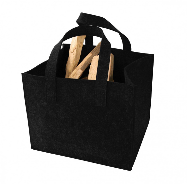 2 Handle Dust Proof Fire Wood Carrier Wood Log Carrier Bag Firewood <strong>Totes</strong>
