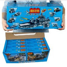 COGO military war 8 - in - 1 invincible battleship เด็ก intelligence building blocks พลาสติก toys241