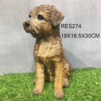 High quality indoor cute resin dog figurine statues