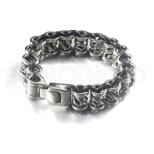 한 수 제 짠 Leather Stainless Steel 줄을 감시 Chain Bracelet