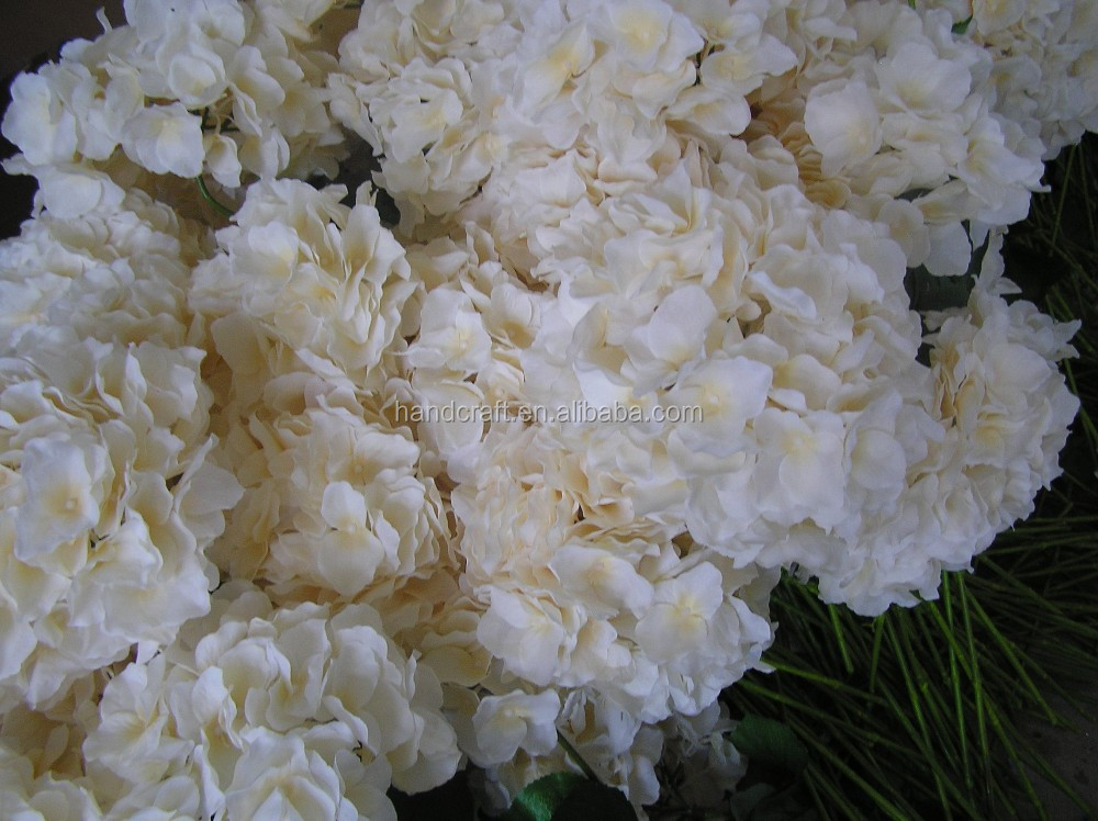 off white hydrangea for holiday party favors wedding