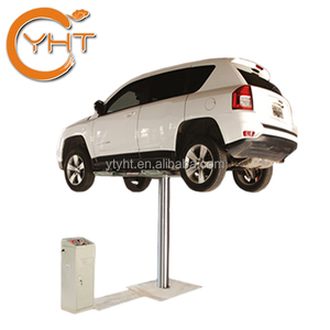 1/single post/pole/ cylinder 3500KG 220V underground hydraulic auto home garage car lift for sale