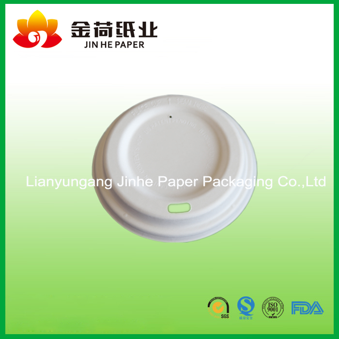 biodegradable pulp molding sugarcane bagasse coffee cup lid