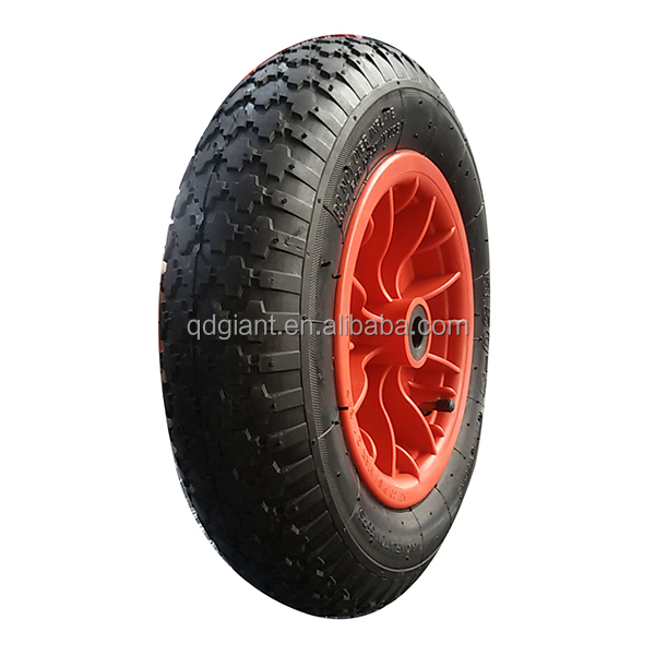 metal rim wheelbarrow wheel 4.10/3.50-8