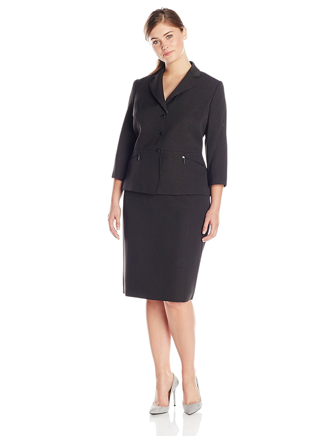 daf8c4b4a771 Get Quotations · Tahari ASL Women's Plus-Size Laura Skirt Suit