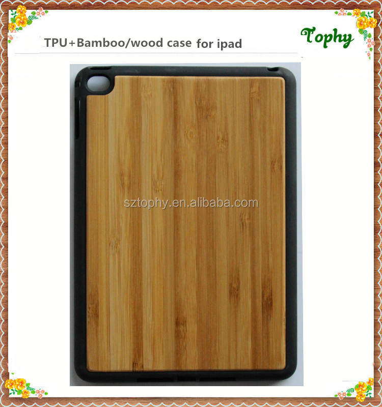 for ipad air tpu+ wood wooden case,bamboo wood cover case for ipad air 2,natural wood cover for ipad wood phone cover for ipad
