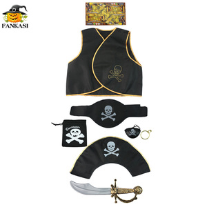halloween decorate kids pirate costume set
