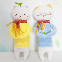 The rabbit and cat humanoid soft toys