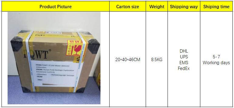 PQWT-TC150 150 M d'eau Professionnel détection géologique de forage machine d'équipement