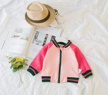 Wholesale 2018 baby girl's back character letter casual fashion jacket
