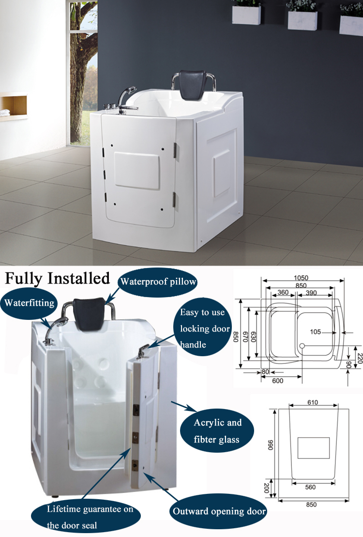 Hs 1101 Walk In Tub Shower Combo Elderly Disabled Bath Tub Walk Front Door Walk In Tub Buy Walk In Tub Shower Combo Elderly Disabled Bath Tub