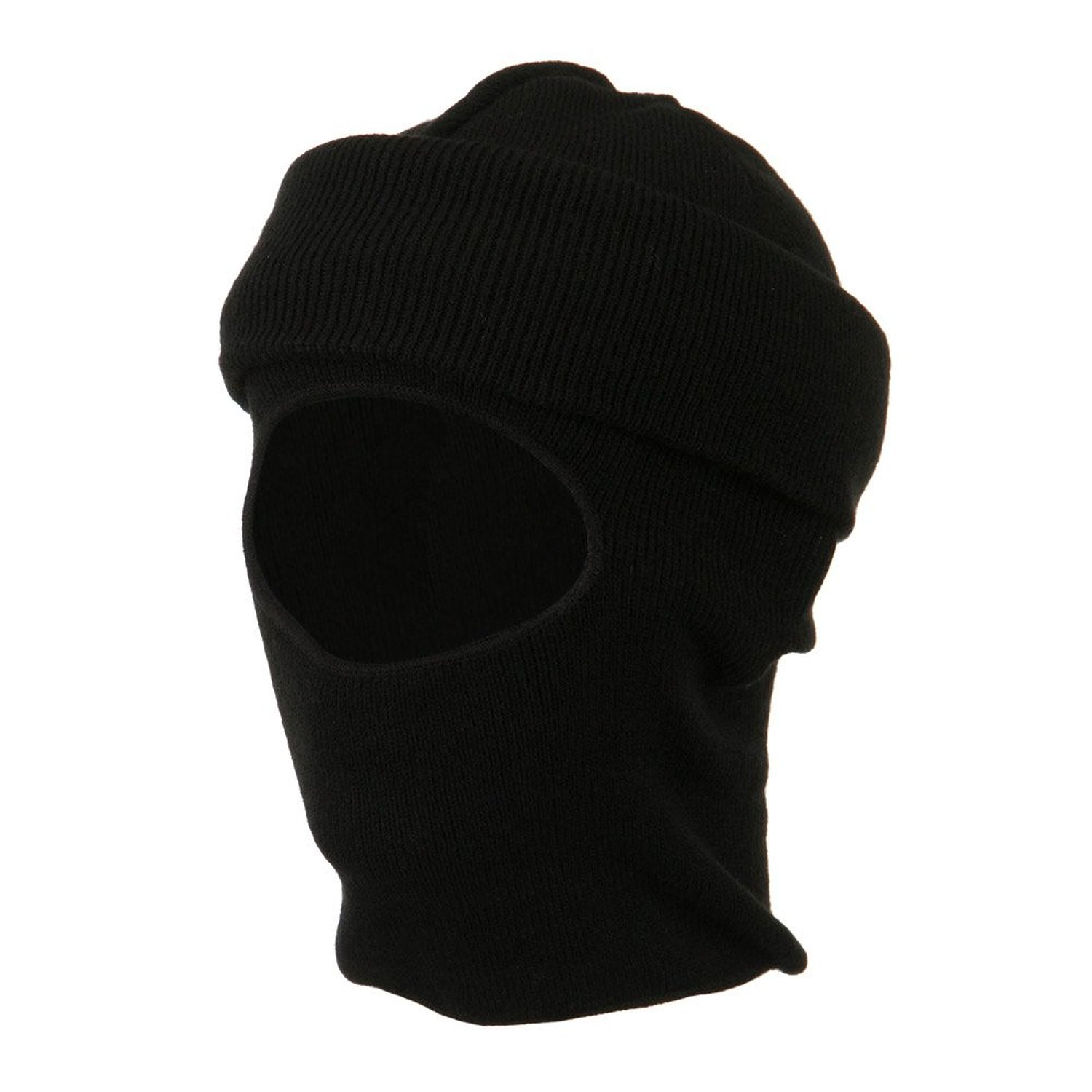 517038df491 Get Quotations · Cuff One Hole Ski Mask - Black