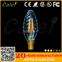 Mini LED Filament Bulb C35 4W E11 E12 E14 Candle Light Replacement Bulbs Candelabra Base Faceted Clear Bulbs