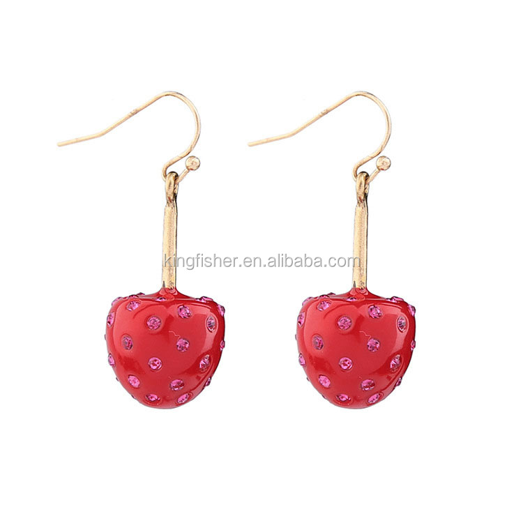 strawberry lane stud s pinky earrings collections strawberrystud
