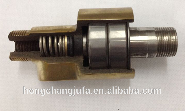 Manufacturing 1 Inch Bsp Npt Male Female Threaded Swivel Rotary Coupling Copper Cooling Water