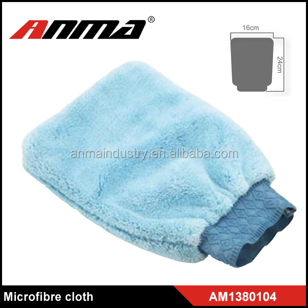 car blue wash microfiber gloves