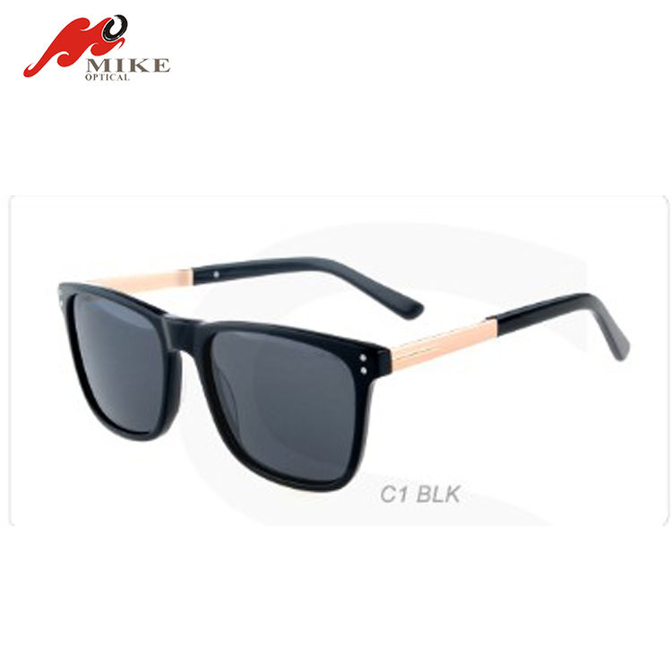 6185S black acetate with gold metal frame women fashion glasses eye wear polarized sunglasses