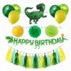 2019 new arrival party supplies jungle dinosaur birthday banner kids dinosaur birthday party decoration