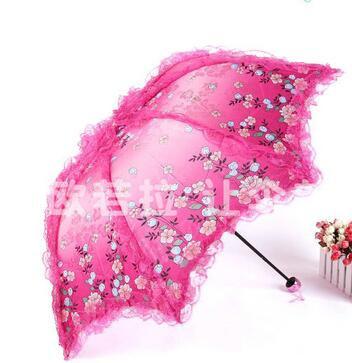 30 шт./лот fedex быстрая свободная перевозка груза корейский стиль женщина творческих складной зонтик зонтик зонтики кружевной зонтик