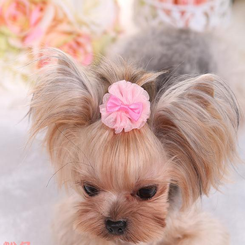 Flower Pet Dog Hair bow Tie Dog Grooming Hair Clips for Dogs