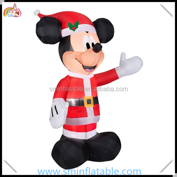 commercial christmas inflatable minnie mouse santa inflatable cartoon minnie for outdoor event christmas decor