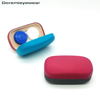 2017 new style customized contact lens travel case with small contact lens box and mirror