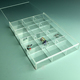 High Transparent Quadrilled Divided plexiglass acrylic jewelry tray