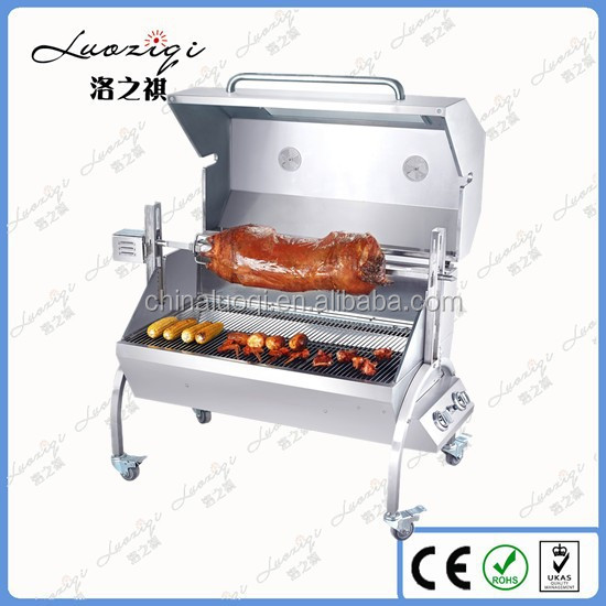 201 Stainless Steel Heavy Duty Spit Roast Bbq With