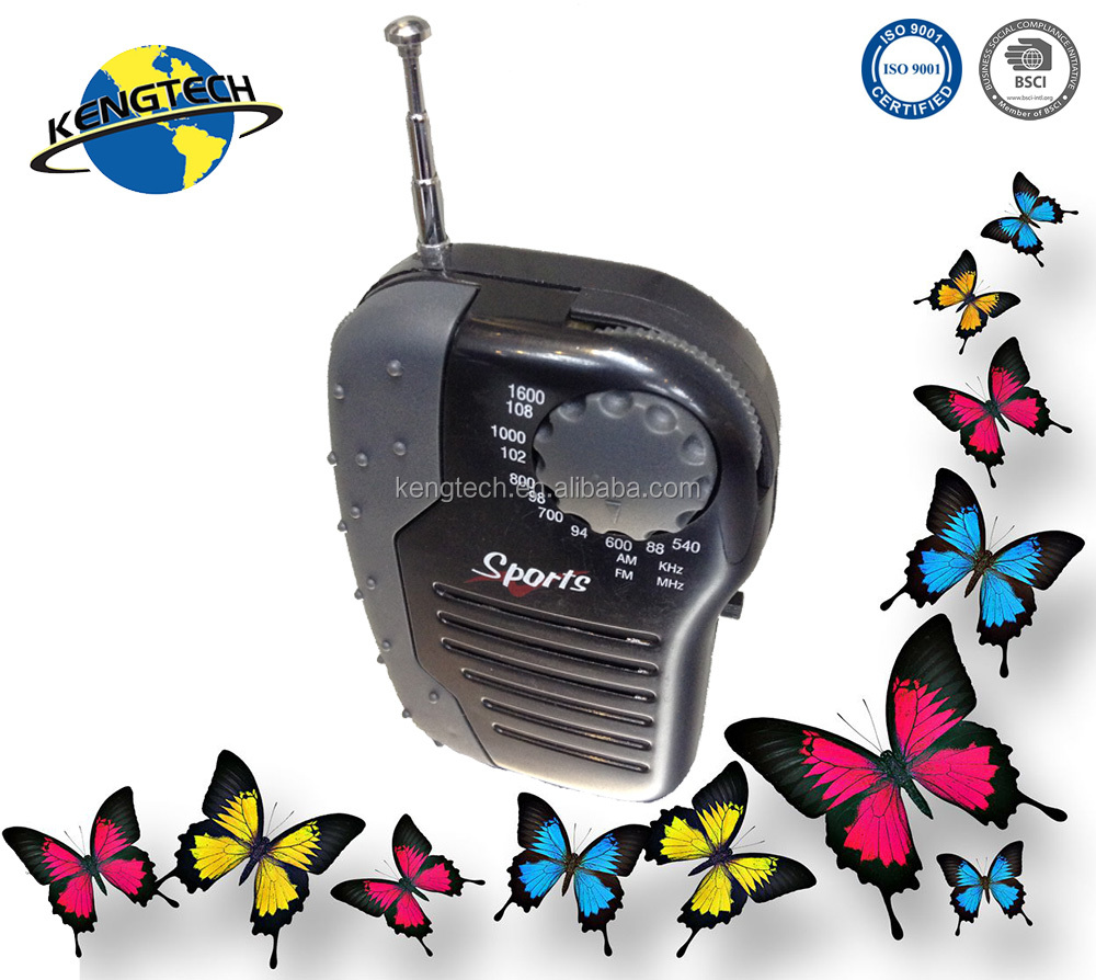 promotional mini AM/FM radio manufacturer with speaker antenna CT-638