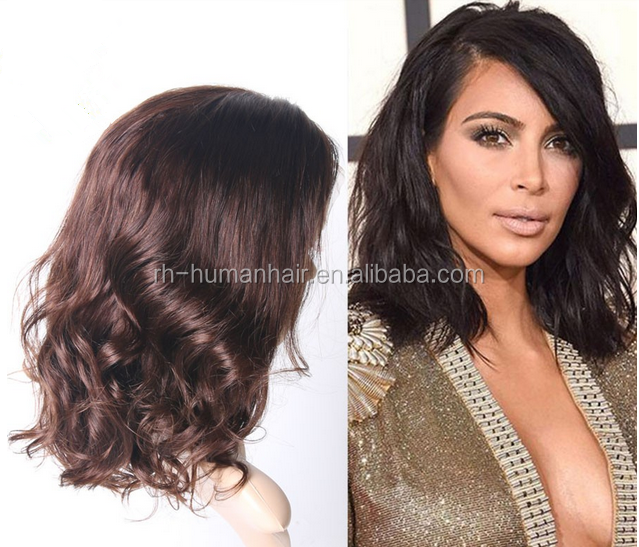 New style long bob human hair full lace wig peruvian hair lace wig long bob style wigs for black women