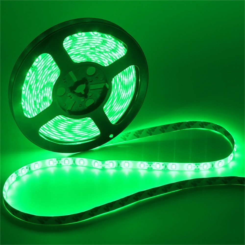 SuperonlineMall Led Strip Lights, trade; 5630 SMD 300LEDs Waterproof Flexible Indoor/Outdoor Xmas Decorative Lighting Strips, LED Tape, 5M 16.4Ft DC12V (Green)