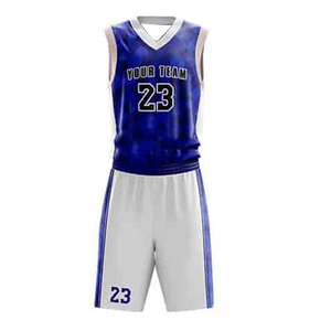 Best basketball jersey uniform design color blue template