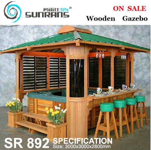 vente chaude en bois gazebo de chine fournisseur belv d re. Black Bedroom Furniture Sets. Home Design Ideas
