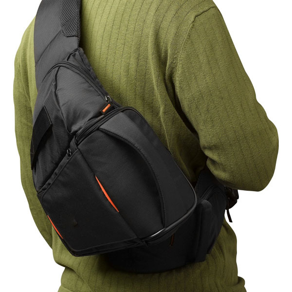 2015 Camera Sling Bag - Black Shoulder Dslr Sling Camera Bag ...