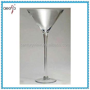 Long Stemmed Clear Tall Martini Glass Vase Buy Long Stem Martini