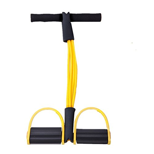Double Tube Foot Pedal Elastic Pull Rope Stretch Leg Exerciser